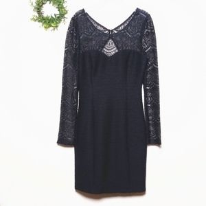 Guess Long Sleeve Body Con Party Dress Sz 10